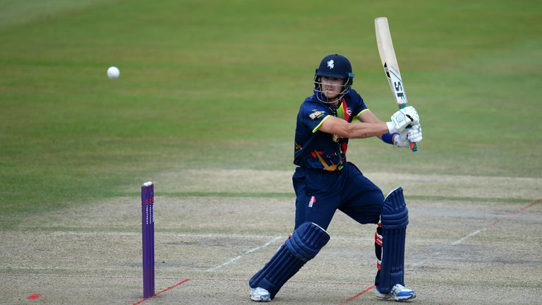 Joe Denly smashed 116 from 63 balls for Kent at The Oval