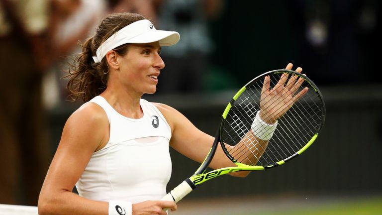 Johanna Konta reached the semi-finals