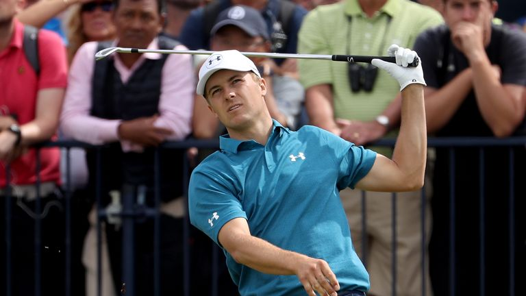 Spieth looked out of sorts throughout the front nine as he slipped to three over for the day at the turn