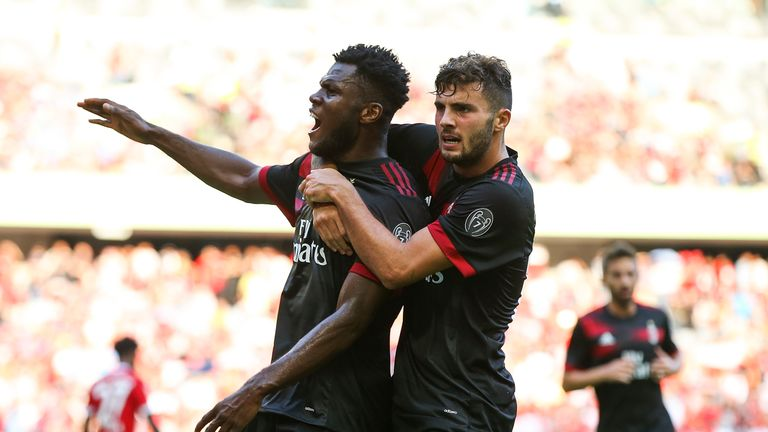 Franck Kessie (L) is one of Milan's big summer signings