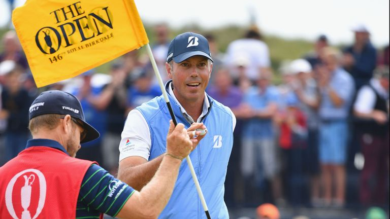 Kuchar found himself leading The Open with five holes to play