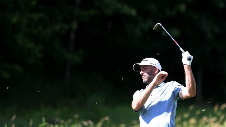 Geoff Ogilvy moved backwards with a four-over 74 on Saturday