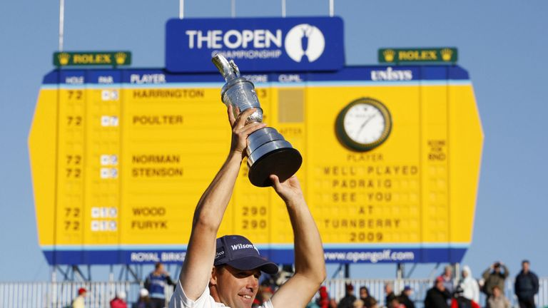 Harrington won by four shots in 2008