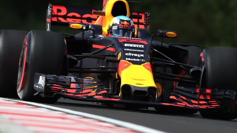 Hungarian GP: Daniel Ricciardo surprise fastest in first practice
