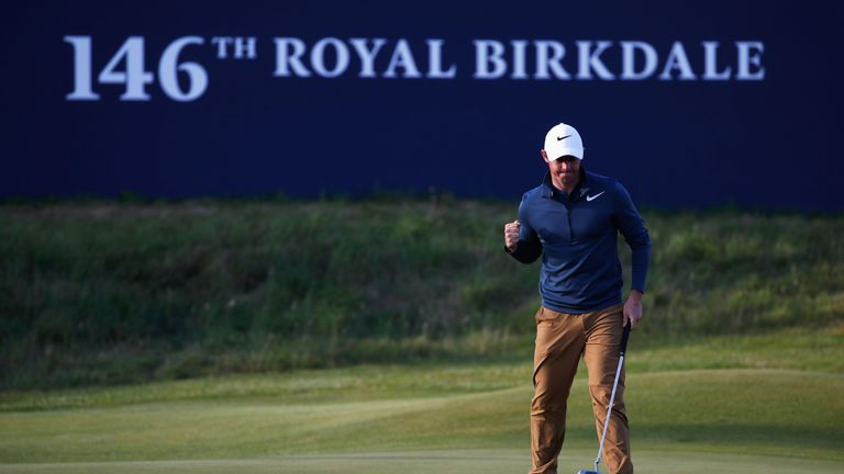 Pep talk from caddie inspires McIlroy at British Open