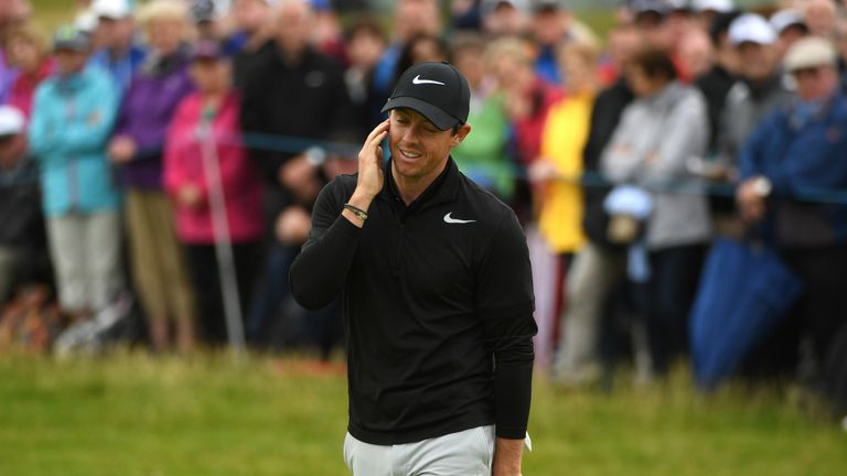 Rory McIlroy toiled on the greens as he stuttered to a 72