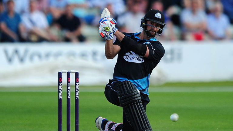 Worcestershire's Whiteley hits six sixes in an over