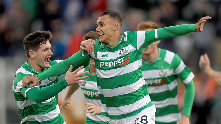 Graham Burke has scored 14 goals for Shamrock Rovers in 11 games