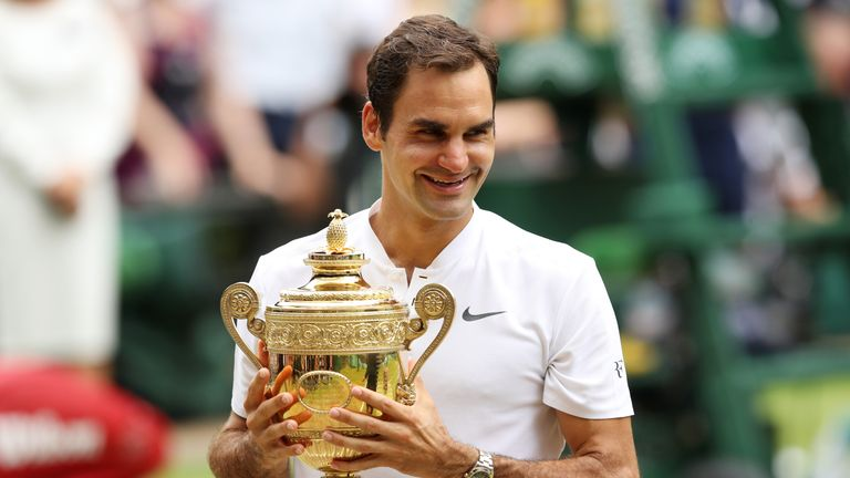Roger Federer won Wimbledon for an eighth time