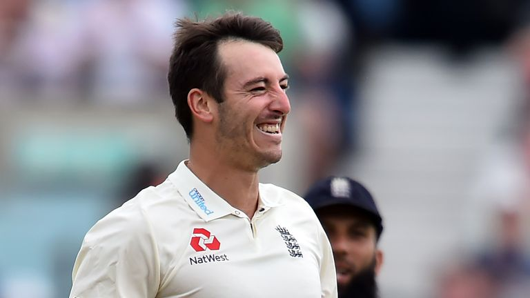 Toby Roland-Jones claimed five wickets in the first innings against South Africa on his debut