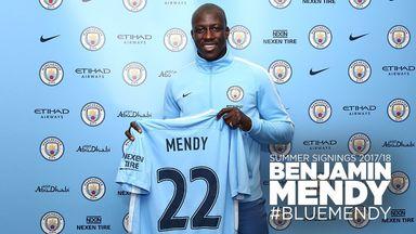 France international Benjamin Mendy has signed a five-year deal (Pic: @ManCity)