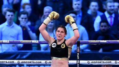 Katie Taylor makes her American debut in the Barclays Center, Brooklyn