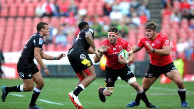 Jaco Kriel (middle) crossed for the Lions' second try