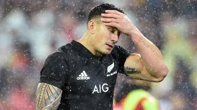 Sonny Bill Williams was sent off for a shoulder charge on Anthony Watson