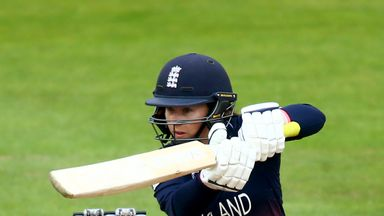 England's Tammy Beaumont was named as player of the tournament