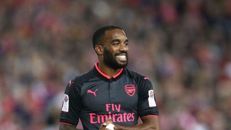Alexandre Lacazette enjoyed a perfect start to his Arsenal career, taking just 15 minutes to find the net
