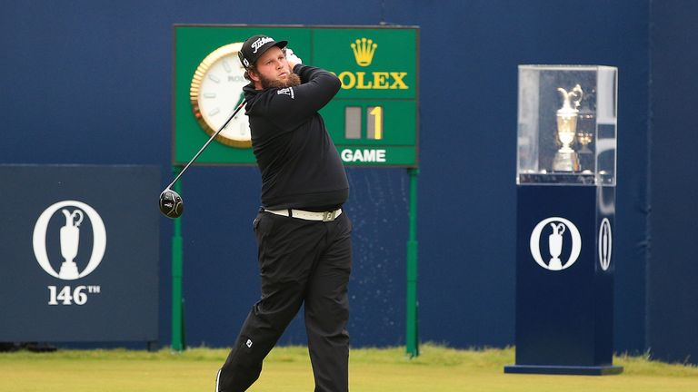 England's Andrew Johnston tees off to start day two of The Open Championship 2017 at Royal Birkdale Golf Club, Southport