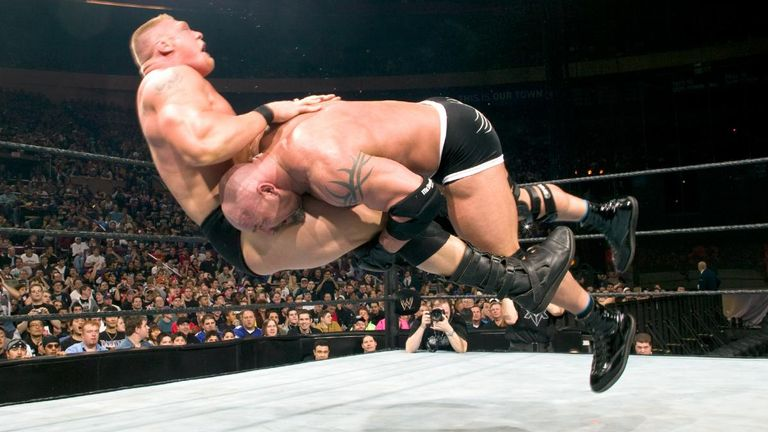 Goldberg, one of the masters of the spear, only makes WWE's Top 10 once.