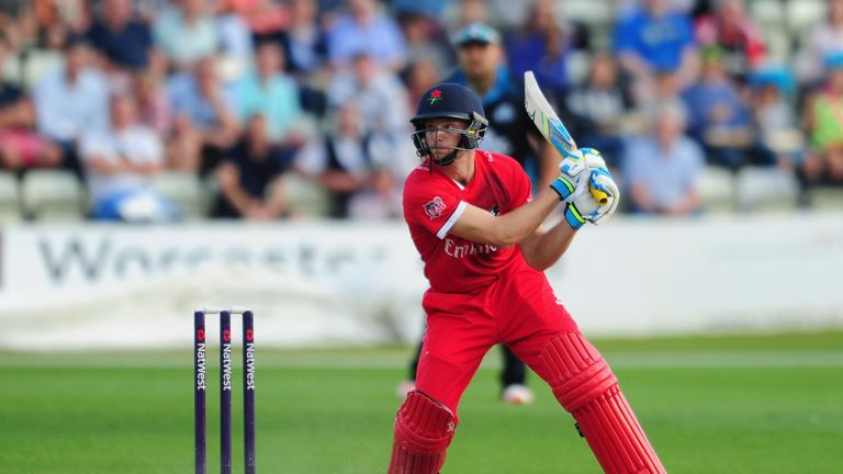 Jos Buttler of Lancashire bats during the Natwest T20 Blast match between Worcestershire and Lancashire at New Road