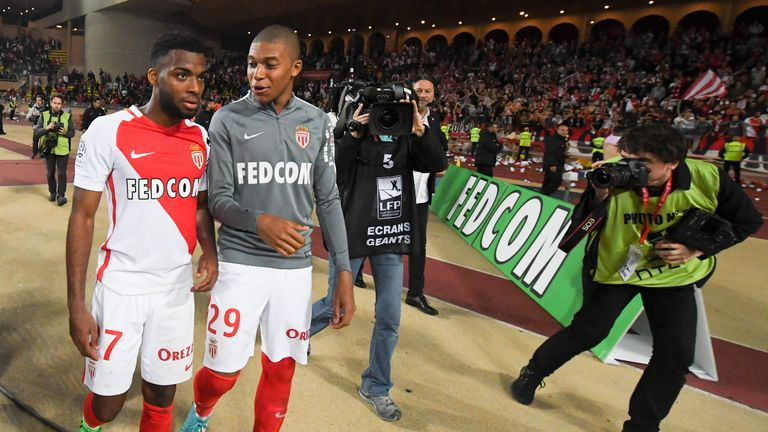 Thomas Lemar (L) and Kylian Mbappe are staying put, according to Monaco