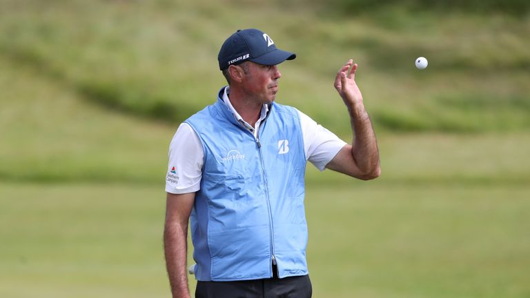 USA's Matt Kuchar celebrates a putt during day four of The Open Championship 2017 at Royal Birkdale Golf Club, Southport
