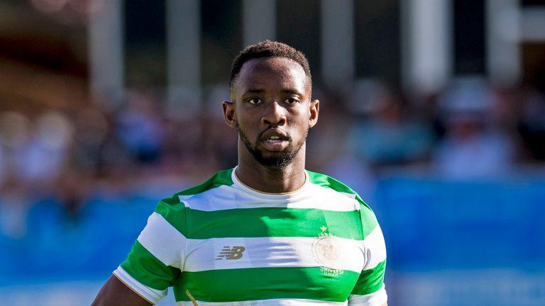 01/07/17 PRE-SEASON FRIENDLY. RAPID VIENNA v CELTIC. AMSTETTEN - AUSTRIA. Moussa Dembele in action for Celtic