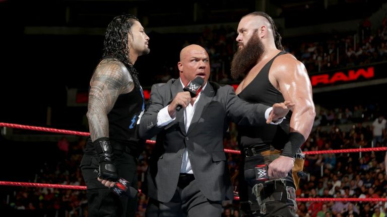 Kurt Angle failed to keep the peace after announcing the main event at WWE SummerSlam.