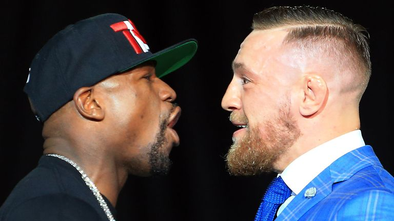 Our panel pick one word to outline the mega fight between Floyd Mayweather against Conor McGregor