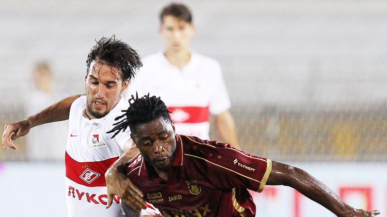 Alex Song (R) is set to leave Russian side Rubin Kazan