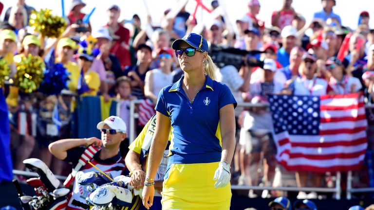 Anna Nordqvist was unbeaten at the Solheim Cup and went on to win the final major of the year