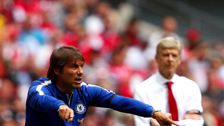 Arsene Wenger (right) says he has some sympathy with Antonio Conte's predicament