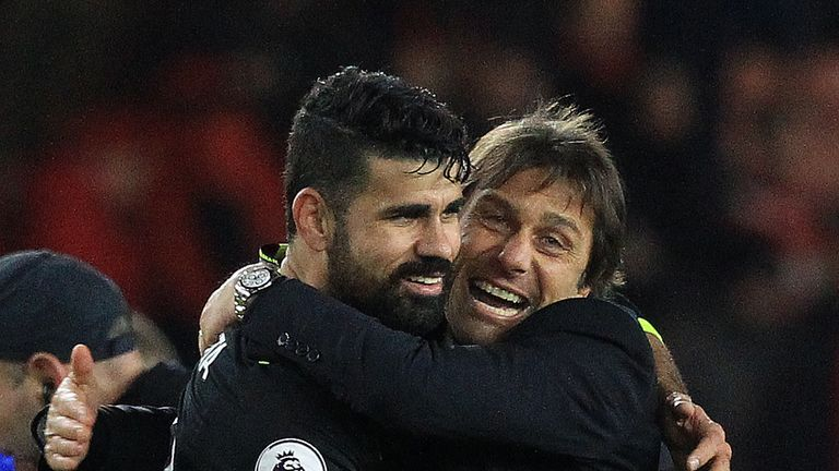 Conte thanks departing Costa for Chelsea success