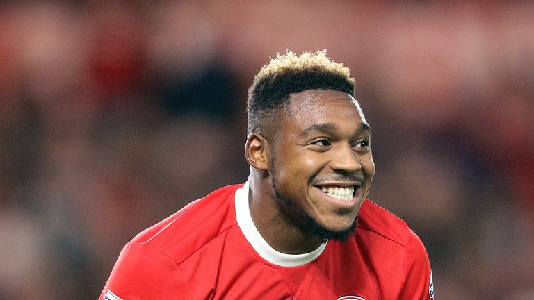 Britt Assombalonga in action for Middlesbrough
