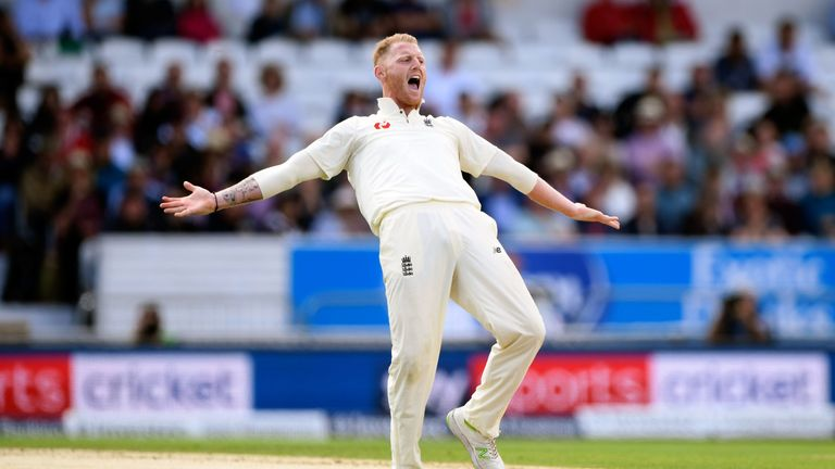 Ben Stokes was given a demerit for swearing on day two at Headingley
