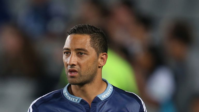 Benji Marshall during his spell in rugby union with the Blues