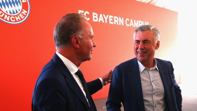 Ancelotti led Bayern to the Bundesliga title last season