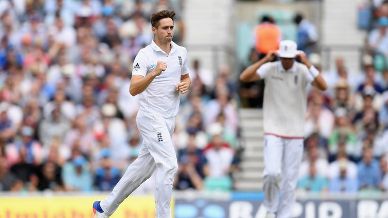 Chris Woakes is one of a number of bowlers to have overtake Finn in the pecking order