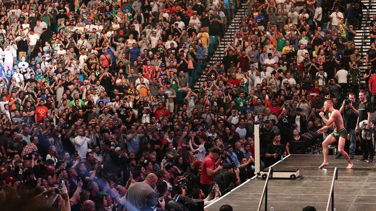 McGregor at a UFC weigh-in in Las Vegas