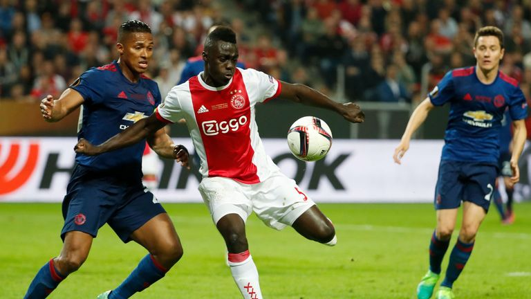 Davinson Sanchez featured for Ajax in the Europa League final last season