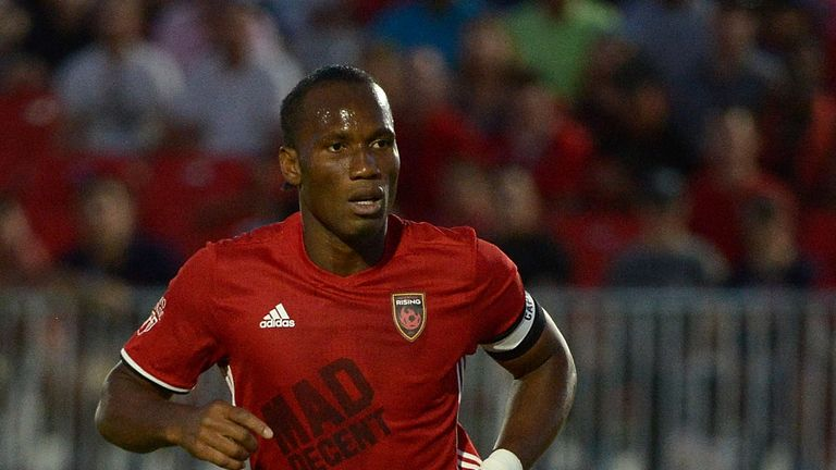 Didier Drogba had two spells with Chelsea before playing in North America for Montreal Impact and Pheonix Rising