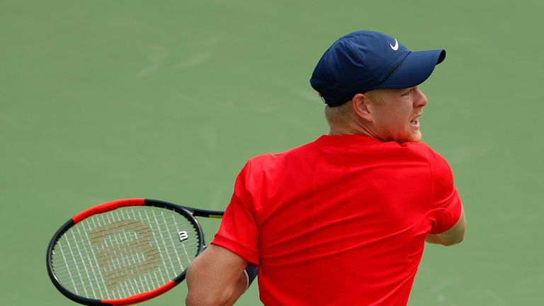 Kyle Edmund fell at the first hurdle in Montreal