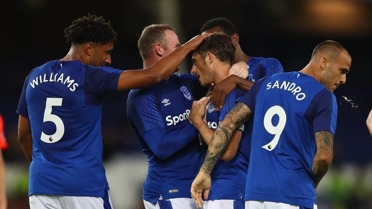 Everton came through their qualifying round in the Europa League