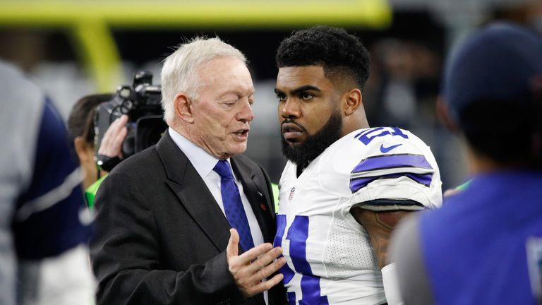 Cowboys With Jerry Jones Take a Knee Before National Anthem Monday Night