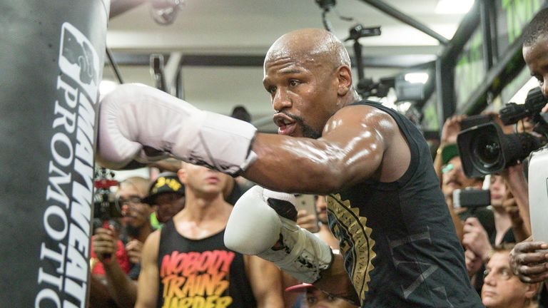 Floyd Mayweather will be seeking to move to a record-breaking 50-0 record with victory on August 26
