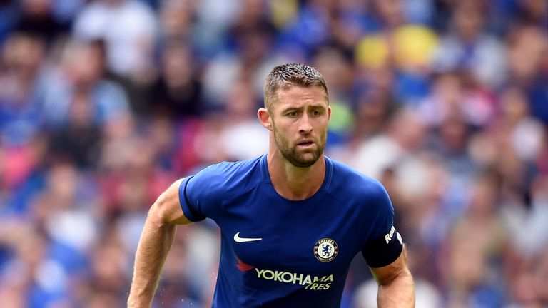 Gary Cahill serves the second match of his three-game ban