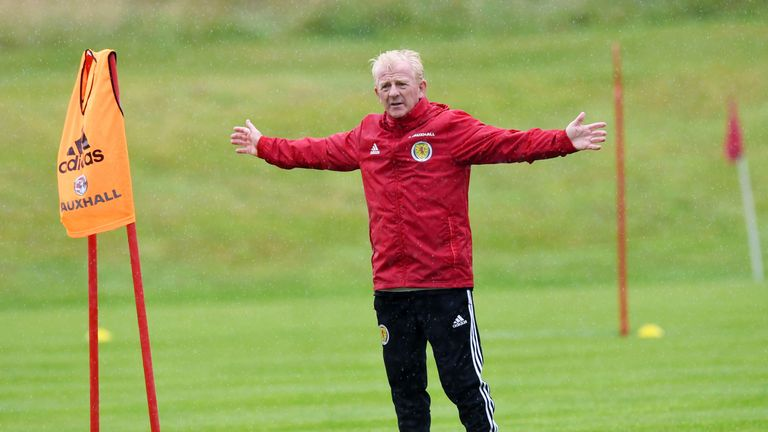 Scotland manager Gordon Strachan at training at Mar Hall on Monday