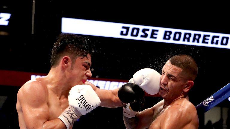 Juan Heraldez (r) edged past Jose Borrego