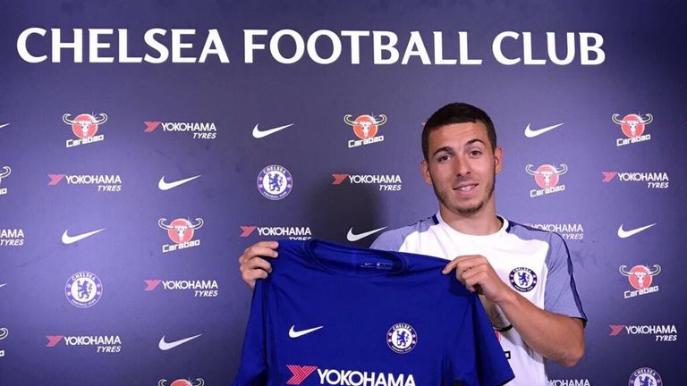 Kylian Hazard signed for Chelsea this week (Image courtesy of Chelsea FC)