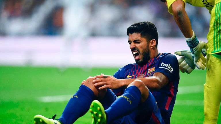 Luis Suarez sustained a knee injury earlier this season