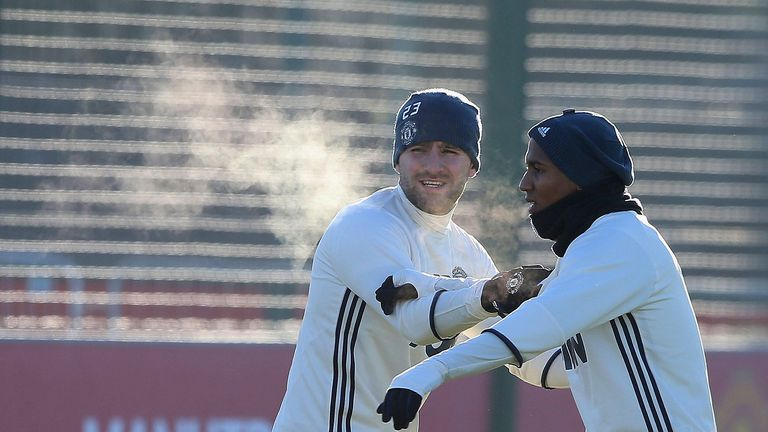 Luke Shaw and Ashley Young (R) returned after injury layoffs